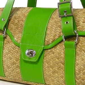Tropez Yoga and Pilates Mat Carrier Green Crescent Moon St
