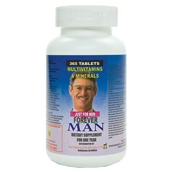 Forever Man Multivitaminas para hombre. 365 Tabletas para todo un ao. Combaten cansancio y