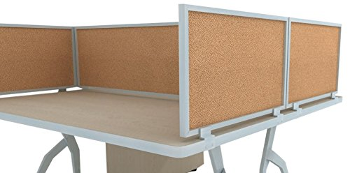 18'' Acoustical Desk Mounted Privacy Panel by OBEX