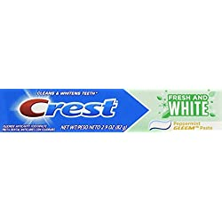 Crest Fresh White Peppermint Gleem Toothpaste, 4.8 Ounce
