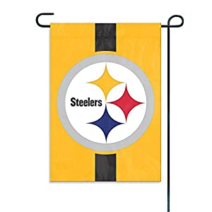 Party Animal Sports Team Logo Pittsburgh Steelers Yellow Garden/Window Flag at Steeler Mania