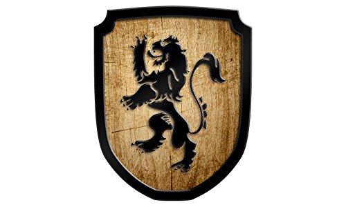 Madera spielerei 33545de N–Escudo Cartel León, natural Holzspielerei 33545-N