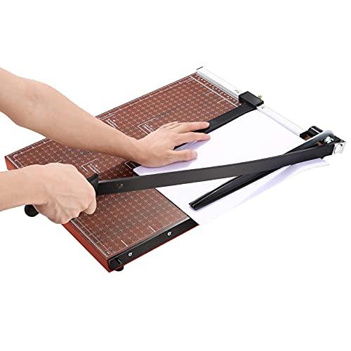 Cortadora de papel A2-B7 Cortadora de papel Cortadora de papel para trabajo pesado Guillotina fotográfica de papel cuadriculado Máquina para manualidades Longitud de corte de 18 pulgadas Capacidad de 12 hojas para uso en el hogar de la oficina