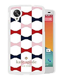 Unique Designed Kate Spade Cover Case For Google Nexus 5 White Phone Case 68