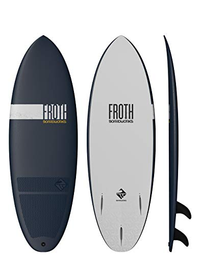 Boardworks Froth! Soft Top Surfboard, Denim/Gold, 5'6