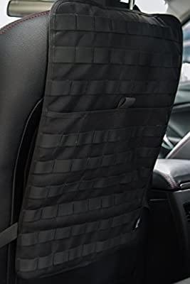 RED Universal fit Car Seat Back Protector with 3 pockets