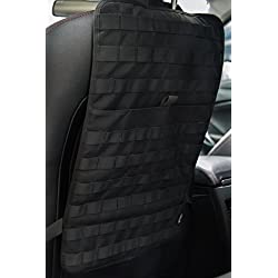 OneTigris Car Seat Back Organizer, Tactical MOLLE Vehicle Panel Car Seat Cover Protector Universal Fit (Black)