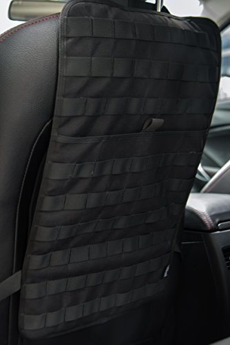 Gear Seat Covers - OneTigris Car Seat Back Organizer, Tactical MOLLE Vehicle Panel Car Seat Cover Protector Universal Fit (Black)