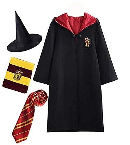 Disfraz de Harry Potter para niño Adulto Unisex Capa Disfraz ...