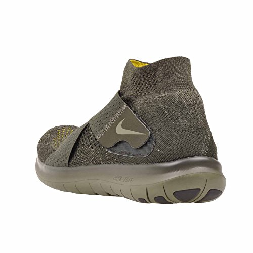 Nike Mens Free Rn Motion Fk 2017, Sequoia / Medium Olive, 12.5 M Us