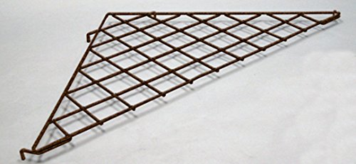 New Retails Antique Bronze Triangular Grid Shelf 34.5''W x 24''D by Grid Shelf