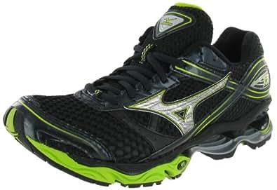 Mens Mizuno Wave Creation 13 Running / Training Shoes, 10.5 US, Black/Silver/Green