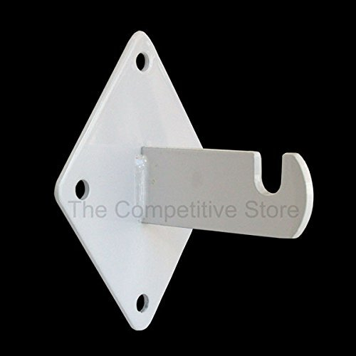 Only Hangers 1905W Only Wall Brackets for Gridwall or Grid Panels-White Color-Set of 8 Pieces