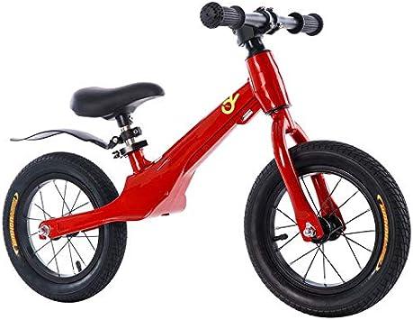 YUMEIGE Bicicletas sin Pedales Bicicleta Sin Pedales Marco Ligero De Aleación De Magnesio, 3.1KG, Bicicleta de Equilibrio para niños con Asiento Elevable Palin Bearing (Color : Red): Amazon.es: Jardín