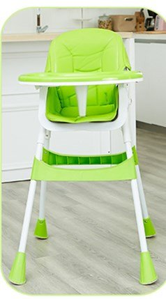 Stool Dana Carrie Baby Chairs Children's Dining Table and Chairs Portable Baby-sit seat Kids eat a Table-Folding, Green (Dana Dining)