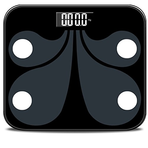 NQFL GWDZX Ultra-thin Weighing Scales Electronic Bathroom Scales Measuring Fat Solid Wood High Precision LED Display,Pink-29262.3cm by NQFL (Image #4)