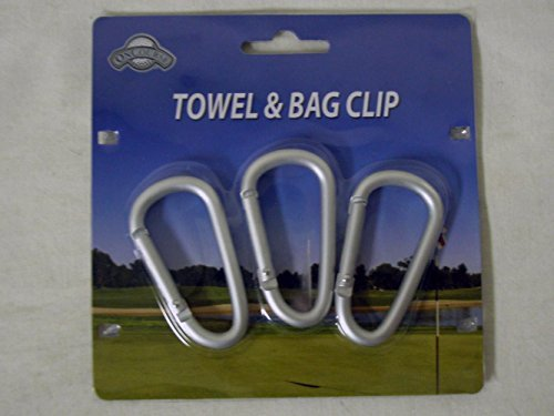 OnCourse Towel & Bag Clip (3 Hook Pack) Golf Accessory by OnCourse