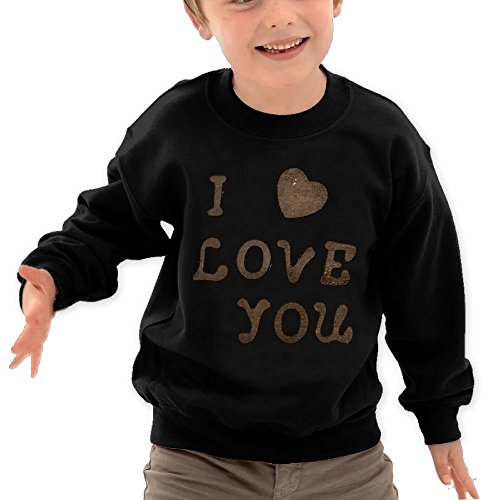 Diosehuts Children's I Love You Forever Kids Comfortable Hooded Hoodies Sweatshirt ()