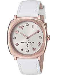 Marc Jacobs Women's 'Mandy' Quartz Stainless Steel and Leather Casual Watch, Color:White (Model: MJ8678)