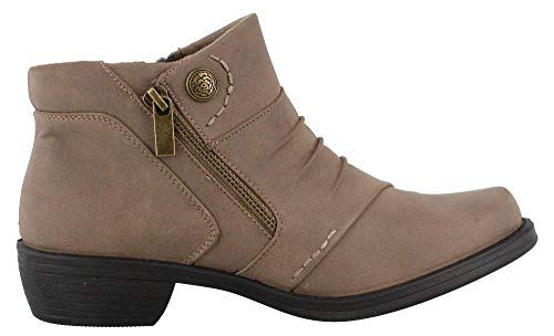Easy Street Women's Sable Ankle Boot, Taupe 7.5 W US