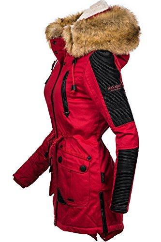 49d803fcf9e809 ... Navahoo Damen Jacke Winterjacke Winterparka Dunja (vegan hergestellt) 3  Farben XS-XXL Rot ...