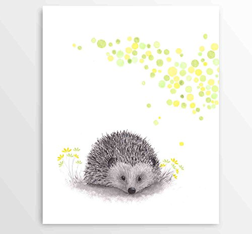 Hedgehog Wall Art, Watercolor Art, Animal Wall Decor, Kids Room Art, Kids Art - Art Print - Hedgehog Print