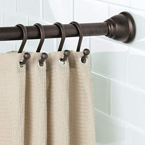 Set of 2 Ikea Betydlig Wall or Ceiling Curtain Rod Brackets Steel White Adjustable