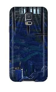 DanRobertse Snap On Hard Case Cover Original Animal Bandage Blue Brownchain Dark Dress Fish Protector For Galaxy S5
