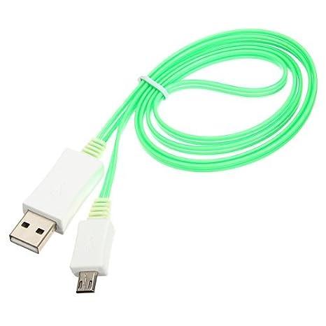 Liroyal visible LED USB cargador cable de sincronización de ...