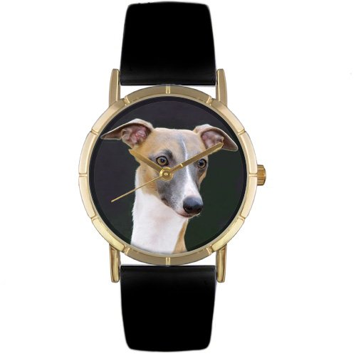 whimsical-watches-kids-p0130046-classic-greyhound-black-leather-and-goldtone-photo-watch