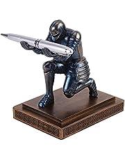 Nuryme Executive Knight Pennenhouder, soldaat figuur, desktop-penhouder, hars-penhouder met pen, cadeauprijs voor kantoor en school