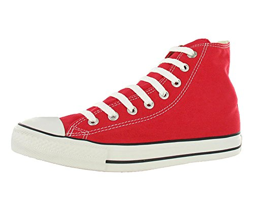 Chuck Taylor All Star Canvas High Top, Red, 5.5 (Mens Red High Top Sneakers)