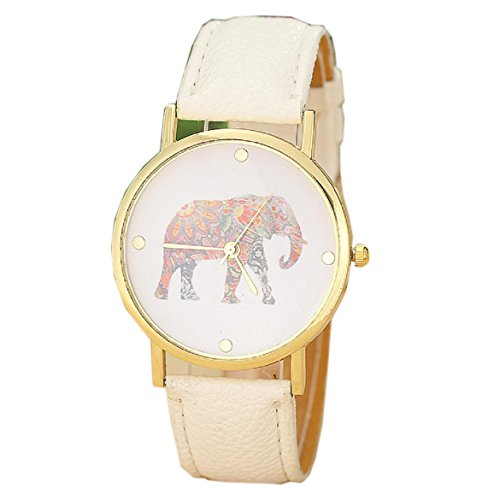 Orangesky-Womens-Elephant-Printing-Pattern-Leather-Watch