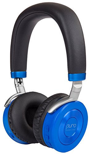 Puro Sound Labs JuniorJams, Premium Wireless Volume Limited Kids Headphones with Bluetooth Connectivity, Daisy Chain Sharing and 22-Hours of Battery Life (Blue) by Puro Sound Labs
