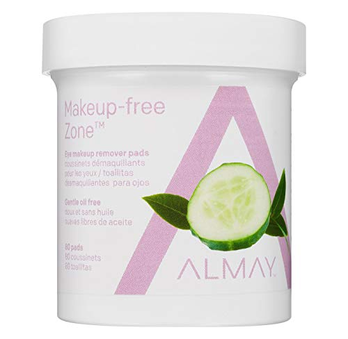 Almay Eye Makeup Remover Pads, Oil Free, Hypoallergenic, Free from Fragrance, 80 pads