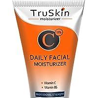 MEJOR Crema hidratante con vitamina C para el rostro, el cuello y el escote para el envejecimiento, las arrugas, las manchas de la edad, el tono de la piel, el reafirmante y los círculos oscuros. 2 onzas