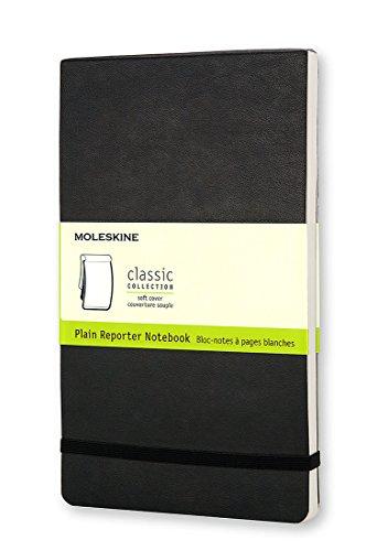 Plain Reporter Notebook (Moleskine Reporter Notebook, Large, Plain, Black, Soft Cover (5 x 8.25) (Reporter Notebooks))