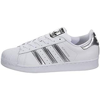 adidas Originals Women's Superstar Sneaker, White/White, 9