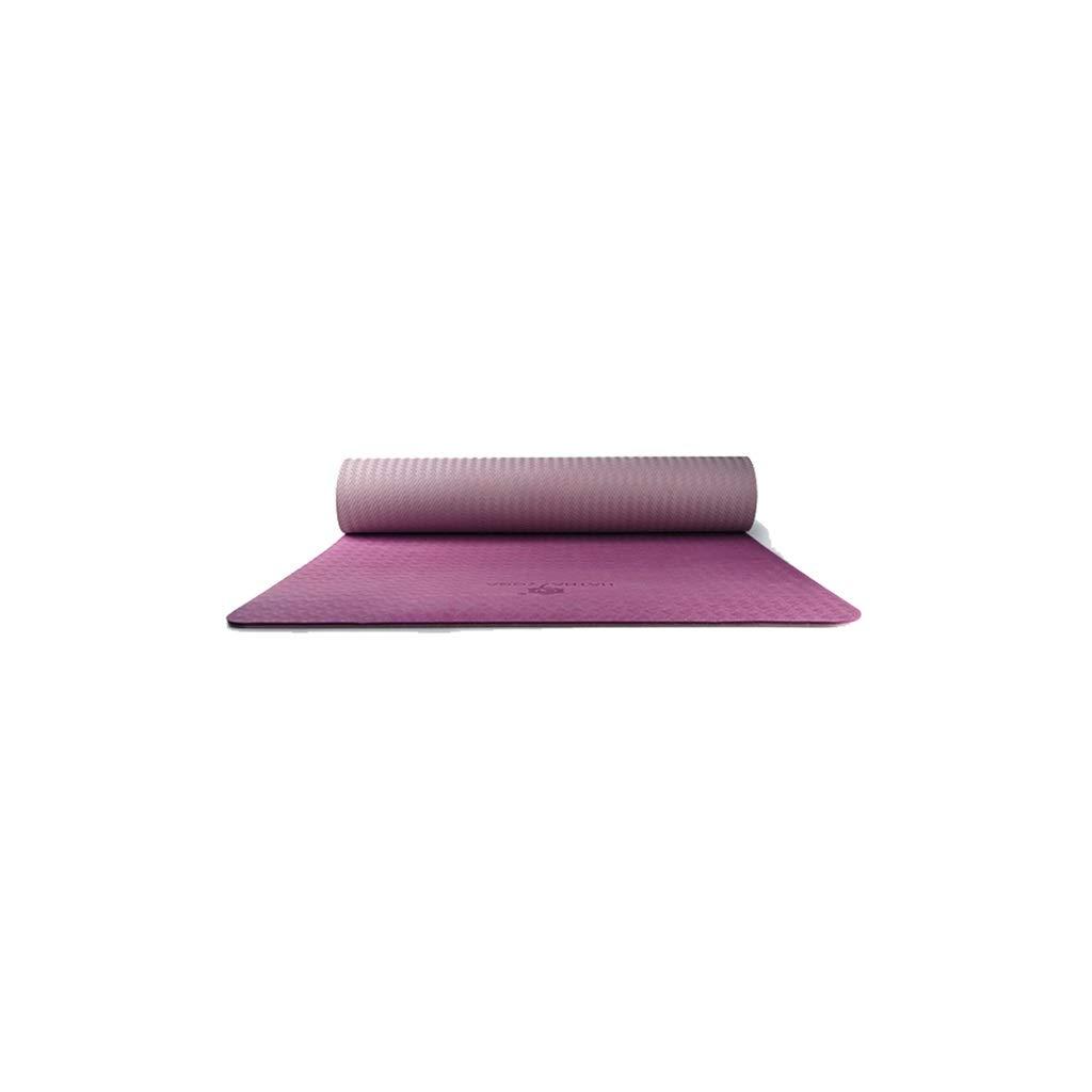 C IUYWL Tapis de Yoga antidérapants TPE débutant Fitness épaississement élargissant Tapis de Fitness Tapis de Sol Maison 183cm × 66cm Tapis de Yoga (Couleur   B)