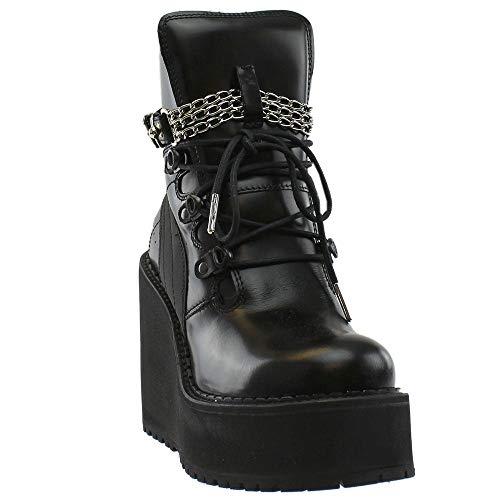 Puma Women's Sb Wedge Rihanna Black/Mid-Calf Leather Fashion Sneaker - 8.5M