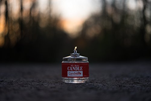 Candlelife Emergency Survival Candle (Set of 6) - 115 Hours Long Lasting Burning Time - Great Source of Light for Blackout, Camping, Fishing and Hunting - Smoke & Odor-free   Clear Mist
