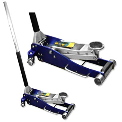 "ESKALEX>>3 Ton Aluminum Hydraulic Floor Jack Double Plunger 3-1/2"" Low Profile Light Weig and Long Frame Super Light Weight Aluminum Alloy Construction Working Range: 3-1/2""~ 19-1/4"" Double Plunger,"