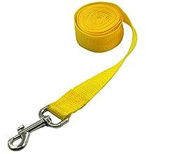 Pet Cuisine Nylon Long Dog Walking Leash For Harness Collar Cat Puppy Training Lead Rope 8 Feet Yellow