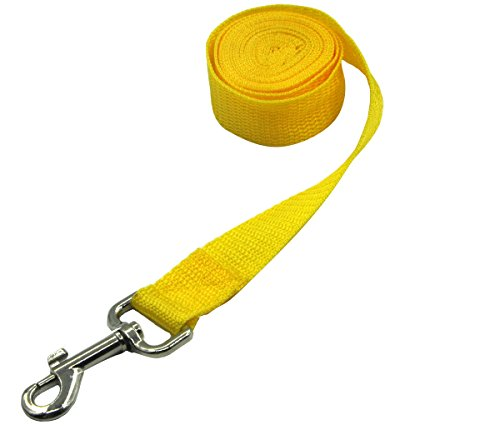 Pet Cuisine Nylon Long Dog Walking Leash For Harness Collar Cat Puppy Training Lead Rope 8 Feet Yellow