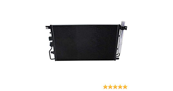 A//C Condenser with Drier Compatible with 2010-2015 Chevy Equinox 2.4L L4 3.0L V6 with Automatic Transmission
