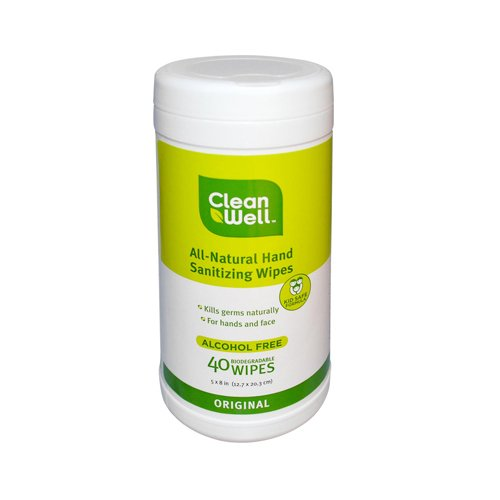 CleanWell All Natural Sanitizing Wipes Original product image