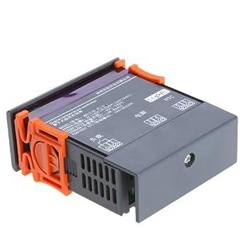 KKmoon - Controlador de temperatura digital con función de alarma, 10A, 220V, Thermocouple -40℃ to 120℃: Amazon.es: Bebé