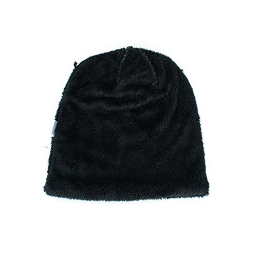 Gorro Jacquard Suave Sombreros Punto YiJee Invierno de más Rayas Negro Diseño Vellosidades Hombre Popular Eq77znF