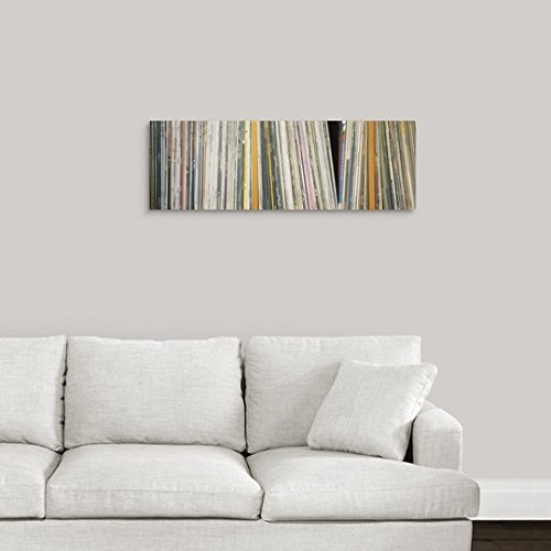 Amazon.com: Premium Thick-Wrap Canvas Wall Art Print Entitled Row of Music Records, Germany 36
