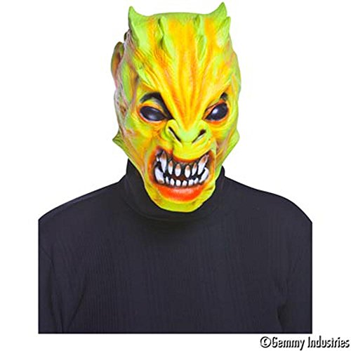 Scary Alien Monster Mask - Color: Day-glow Yellow - One Size Fits All
